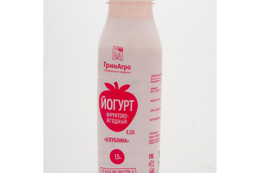 Питьевой йогурт с клубникой