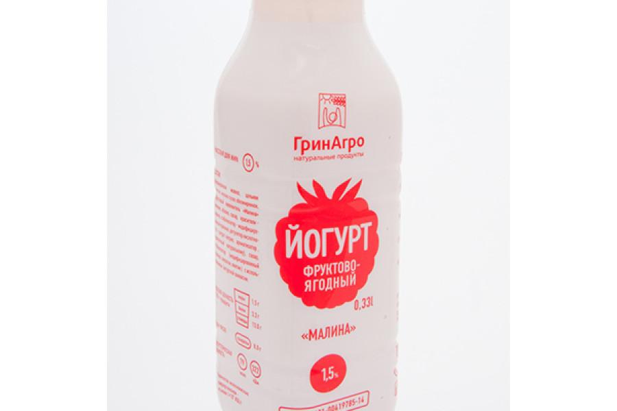 Питьевой йогурт с малиной