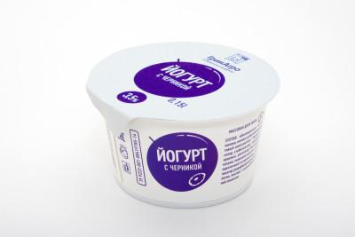 Десертный йогурт с черникой