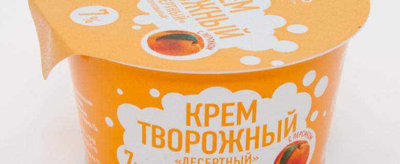 Крем творожный с персиком