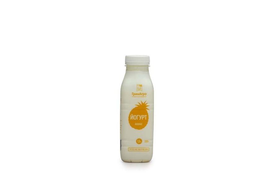 Йогурт питьевой с ананасом 1,5%