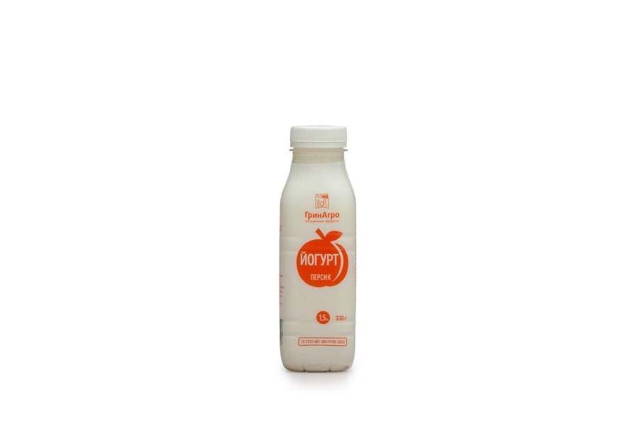 Йогурт питьевой с персиком 1,5%