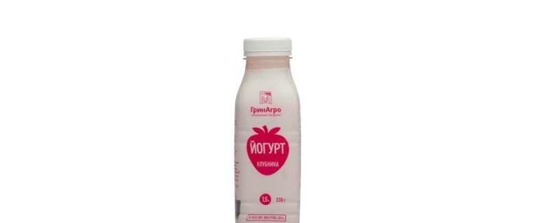 Йогурт питьевой с клубникой 1,5%