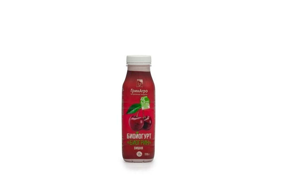 Биойогурт «Биогрин» питьевой вишня 1,5%