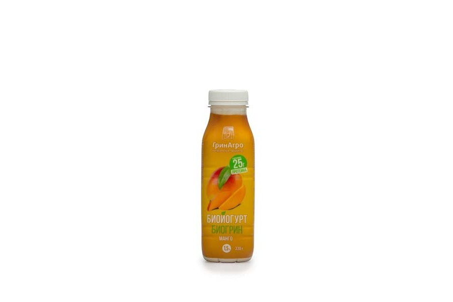 Биойогурт «Биогрин» питьевой манго 1,5%
