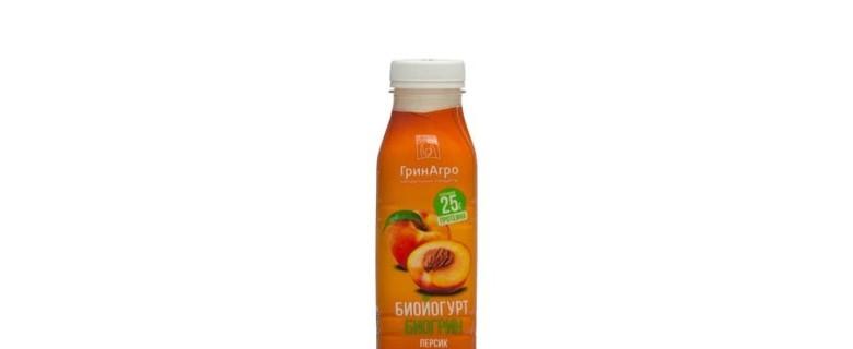 Биойогурт «Биогрин» питьевой персик 1,5%