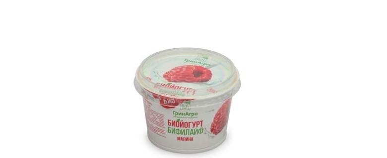 Биойогурт «Бифилайф» десертный с малиной 3,5%