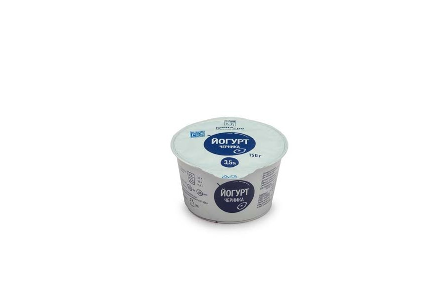 Йогурт десертный с черникой 3,5%