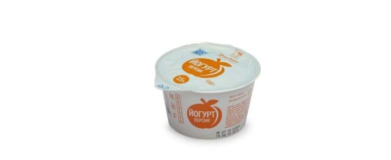 Йогурт десертный с персиком 3,5%