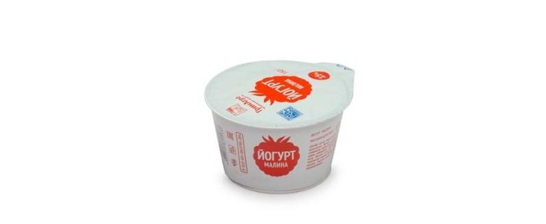 Йогурт десертный с малиной 3,5%