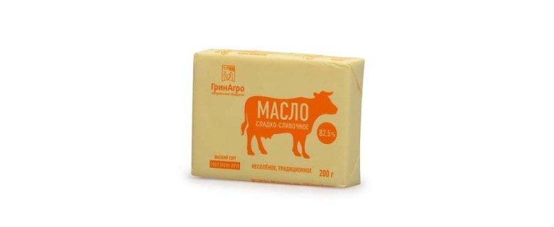 Масло сладко-сливочное несоленое традиционное ГОСТ 82,5%