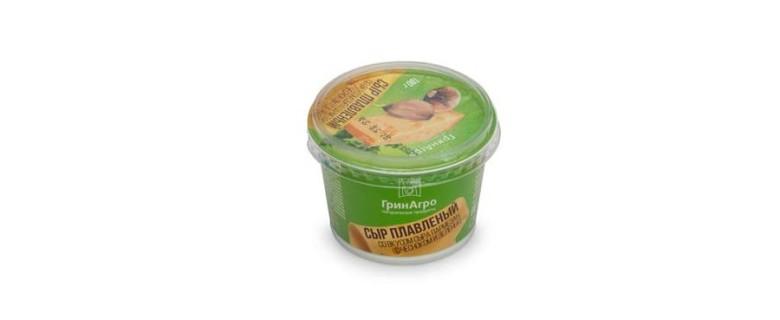 Сыр плавленый со вкусом пармезан, с чесноком и зеленью
